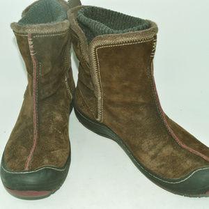 Clarks Pr!vo Women's Leather Brown Winter Boots